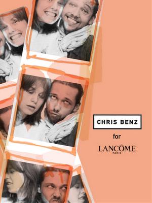 Designer Chris Benz og model for Lancôme, Elettra Rossellini Wiedermann