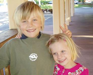 Smoothie-glade Emma og Christoffer