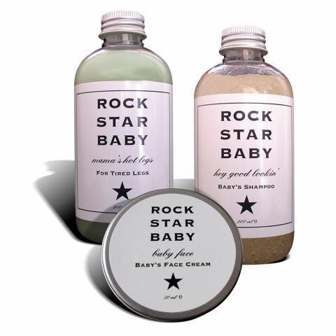 Øko-kær babypleje med rock-rødder
